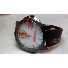 Reloj Ferrari Extensible De Caucho Maquinaria De Cuarzo