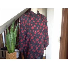Blusa De Seda Estampada,estilo Japonesa(yen Best Fashion)40