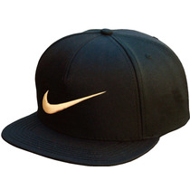 Bone Nike Importado Preto E Dourado Aba Reta Snapback