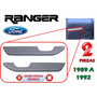 89-91 Ford Ranger Coderas Asideras Puertas Color Gris 2 Pzs.