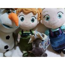Kit 4 Pelúcias Anna+elsa Baby Frozen+olaf+sven Disney