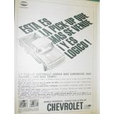 Publicidad Camionetas Chevrolet 1965 La Pickup Que Mas Vende