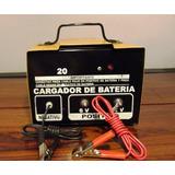 Cargador De Baterias 12v / 6v 20 Ampers Para Auto O Moto