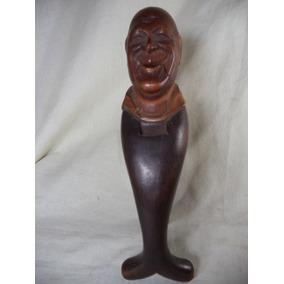 Escultura Em Madeira Quebra Avelã Antiga Alemã Cd20