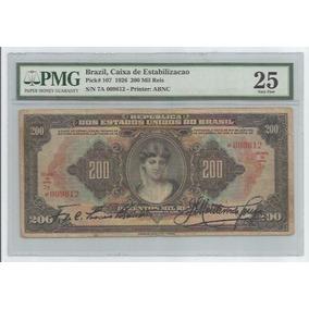R 188 - 200 Mil Réis - Ano De 1927