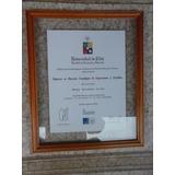 Diplomas,entre-vidrios, Madera Natural, Desde $ 1.000.