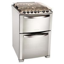 Cocina Electrolux 56dtx Doble Horno 56c Acero