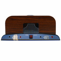 Embaralhador Automático Carta Luxo Madeira 2deck Poker Truco