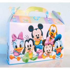 Cajita Mickey Bebé, Minnie Y Sus Amigos. Pack X40 Valijitas