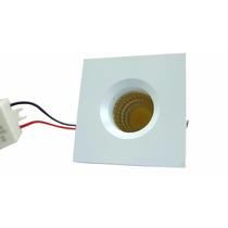 Spot Led Mini Dicroica Embutir 3w Quadrado Branco Quente