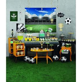 Kit Decoração Festa Futebol Até 24 Conv. - 387 Itens