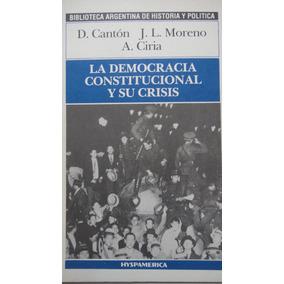 La Democracia Constitucional Y Su Crisis Cantón Microcentro