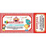 Invitaciones+sobre+estampita+2tarjetitas Entrada De Circo!!