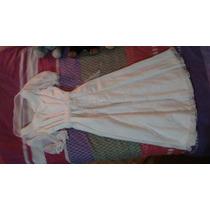 Vestido De Primera Comunión Color Blanco, Con Accesorios