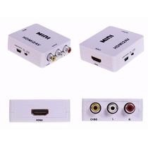 Convertidor Señal Hdmi - Rca Audio Full Hd 1080p