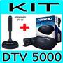 Kit Conversor Tv Digital Aquario Dtv 5000 + Antena Dtv 100