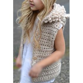 Chaleco Con Capucha Crochet
