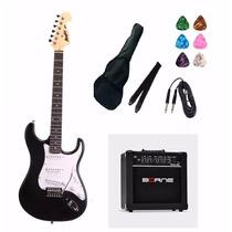 Kit 11 Itens Guitarra Tagima Strato Mg32 Cubo Borne Capa