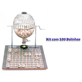 Vispora Nº2 100 Bolas Bingo Profissional Globo Cromado