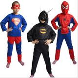 Disfraz De Heroes (hombre Araña, Batman, Superman, Ironman)