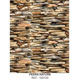 Papel De Parede Adesivo Quarto Pedra Tijolinho 45cmx70 Mts