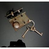 Cerradura De Campana Antigua Para Baul Mueble Rara 12117swt