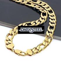 24k Cadena Cartier Oro Laminado 60 Cm X 8 Mm