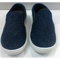 Zapatos Tipo Toms Niño Jeans Claro Espectaculares