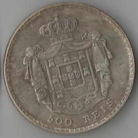 Moeda De Prata De Portugal - 500 Réis - 1845