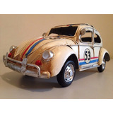 Mini Fusca Herbie 53 Decora Vintage Clássico Stilo Decoração