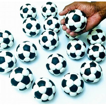 Kit 25 Lembrancinhas Bola De Futebol Em Massa De Biscuit 7cm