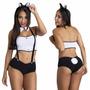 Fantasia Erótica Coelhinha Da Playboy - Frete Grátis