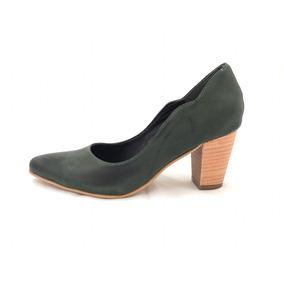 Zapatos De Moda 2017 Mujer Stiletos De Cuero Color Verde