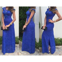 Vestido Festa Madrinha Casamento Formatura Azul Royal