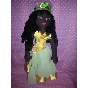Boneca De Pano Princesa Tiana N.01, 37cm