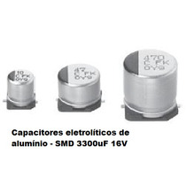 Eletrolitico Smd 3300uf 16v Pn:eevfk1c332m Kit Com 10 Pçs
