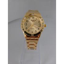 Relógio Feminino Stilo Swath Dourado Frete Grátis
