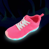 Tennis Zapatos Con Luz Led + Envio Gratis + Obsequio Tula