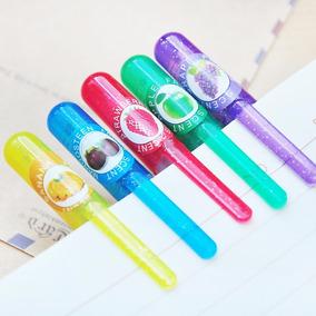 Lote 5 Paquetes De Plumas De Gel Con Glitter Y Aroma+ Envio