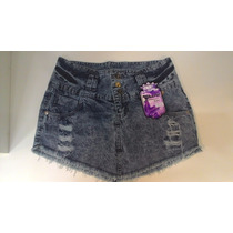 Mini Saia Desfiada De Bico Destroyed Jeans
