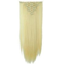 Alongamento Aplique Mega Hair Tictac Sintetico Loiro 8peças