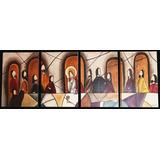 Quadros Pintura Em Telas Obra Santa Ceia Feito À Mão