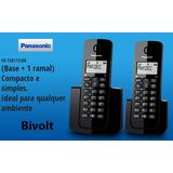 Telefone S/ Fio Panasonic Kx-tgb112lbb, Id. Chamadas+1 Ramal