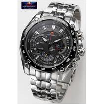 Relógio Casio Edifice Red-bull Ef 550rbsp + Caixa Prata 12x