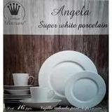 Vajilla Porcelana 4 Personas 16 Piezas Blanca Crown Baccara