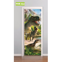 Adesivo De Porta Dinossauro T-rex