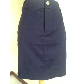 Falda Corta Damas Gap Color Azul Marino Talla 6
