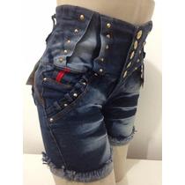 Bermuda Pit Bull Cintura Alta- Jeans Com Lycra