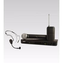 Transmissor Receptor Duplo S/ Fio Bastão Headset Shure Pg30