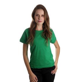 Blusa Feminina Camiseta Baby Look Lisa 100% Algodão P,m,g,gg